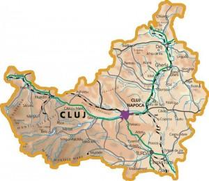 Harta judetului Cluj