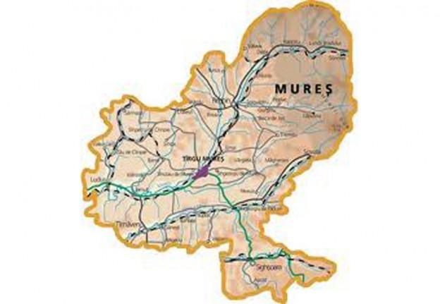 Harta Judetului Mures Judetul Bistrita Nasaud