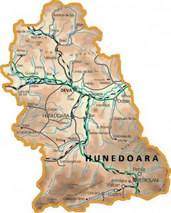 Harta judetului Hunedoara